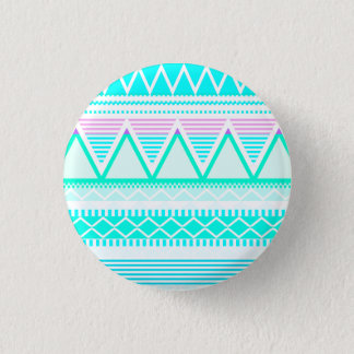 Bright Turquoise Tribal Pinback Button