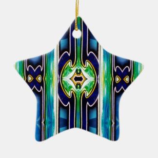 Bright Unique Tribal Pattern Ceramic Ornament