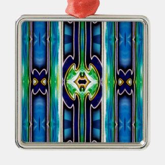 Bright Unique Tribal Pattern Metal Ornament