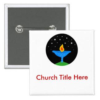 Bright UU Chalice Nametag Button