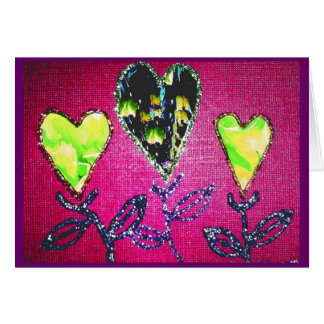 Bright Valentine's Collage Card