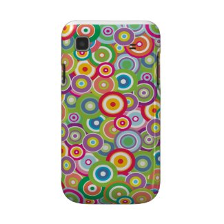 Bright Vector Circles Galaxy S Barely There™ casematecase