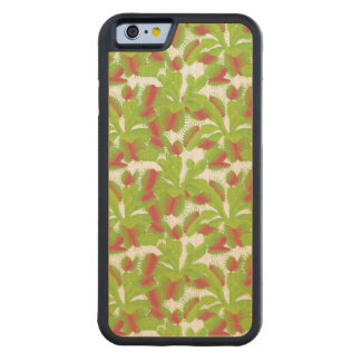 Bright Venus the Flytrap Pattern Carved Maple iPhone 6 Bumper Case