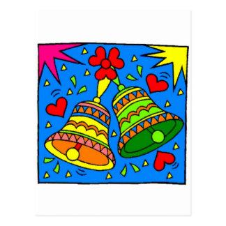 Bright vibrant bells post cards