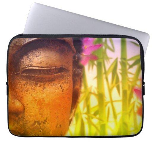 Bright & Vibrant Buddha & Bamboo Laptop Sleeve