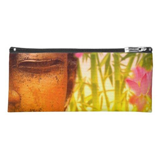 Bright & Vibrant Buddha & Bamboo Pencil Case