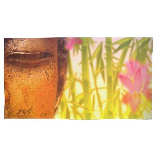 Bright & Vibrant Buddha & Bamboo Pillow Case