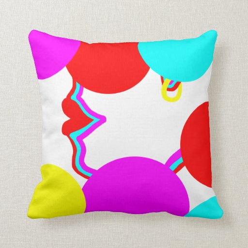Bright vibrant colors to lift your room throw pillows zazzle for Bright vibrant colors