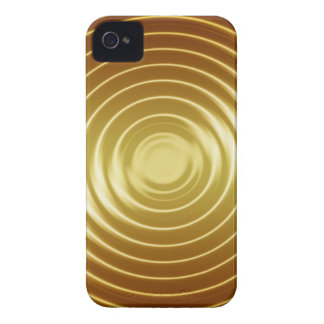 bright vibrant gold waves iPhone 4 cover