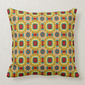 Bright Vintage Gameboard Throw Pillow