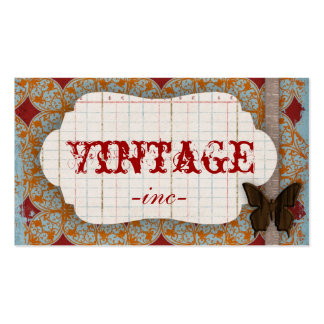 Bright Vintage Inspired Business Cards