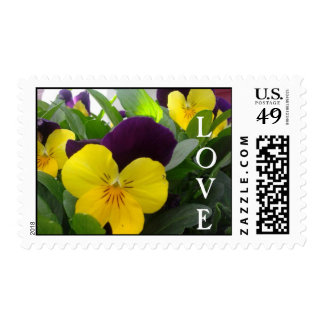 Bright Violas, LOVE Postage