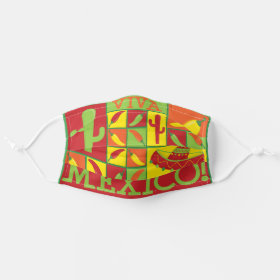 Bright Viva Mexico Fiesta Funky Pattern Cloth Face Mask
