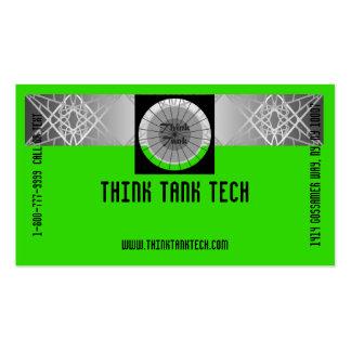 Bright Vivid Colorful Eye-Catching Tech Biz Business Card