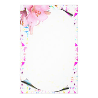 Bright, Vivid, & Colorful Floral Print Stationery
