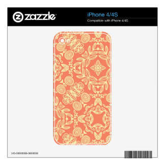 Bright warm background in vintage style. decals for the iPhone 4S