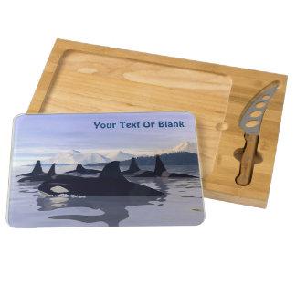 Bright Water Orca Rectangular Cheeseboard