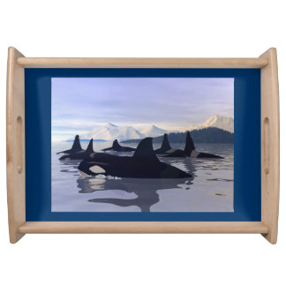 Bright Water Orca Serving Tray