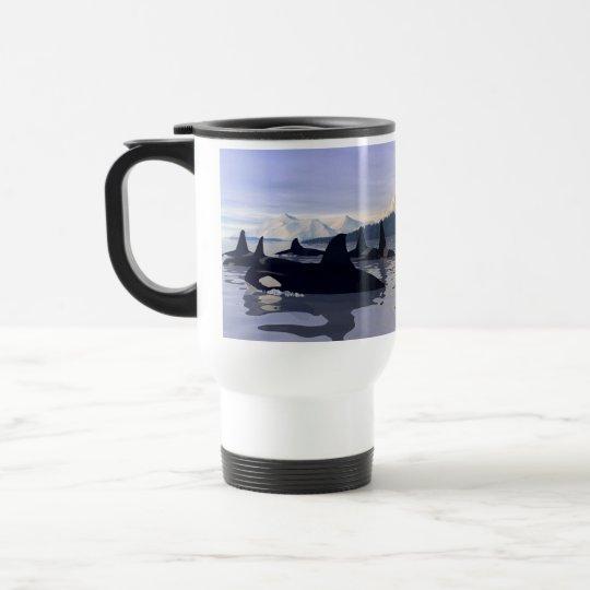 Bright Water Orca Travel Mug