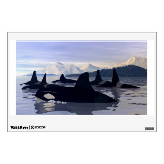 Bright Water Orca Wall Decal