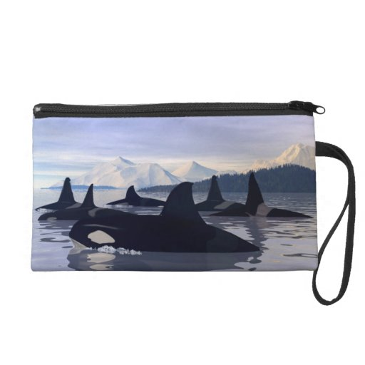 Bright Water Orca Wristlet Clutches