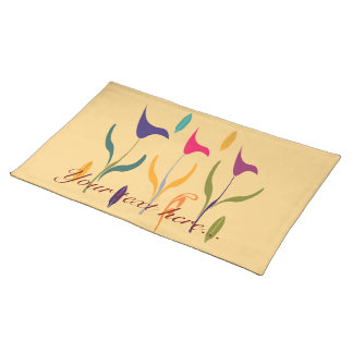Bright Watercolor Calla Lilly Impression Placemat