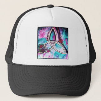 Bright watercolor Celtic triquetra Trucker Hat