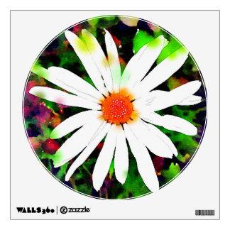 Bright Watercolor Daisy Wall Sticker