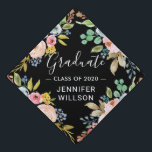 "Bright Watercolor Floral | Class of 2019 Graduate Graduation Cap Topper<br><div class=""desc"">Bright Watercolor Floral 