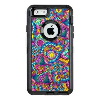 Bright Watercolor Hand Drawn Mandala Floral Otterbox Defender Iphone Case by girly_trend at Zazzle