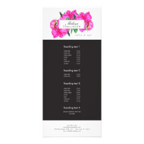Bright Watercolor Pink Peonies Beauty Rack Card