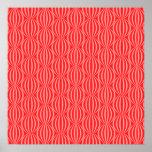 Bright Watermelon Red Circle Pattern Print