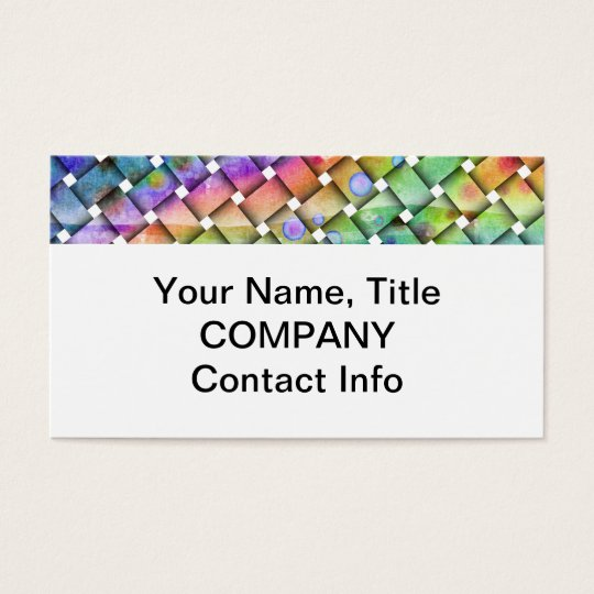 BRIGHT WEAVE Customizable BUSINESS CARDS
