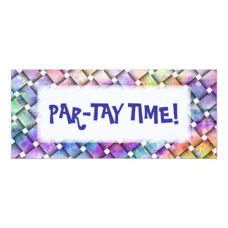 BRIGHT WEAVE Customizable PARTY INVITATIONS