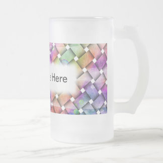 BRIGHT WEAVE FROSTED STEIN or MUG