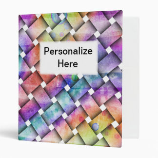 BRIGHT WEAVE Personalizable BINDER