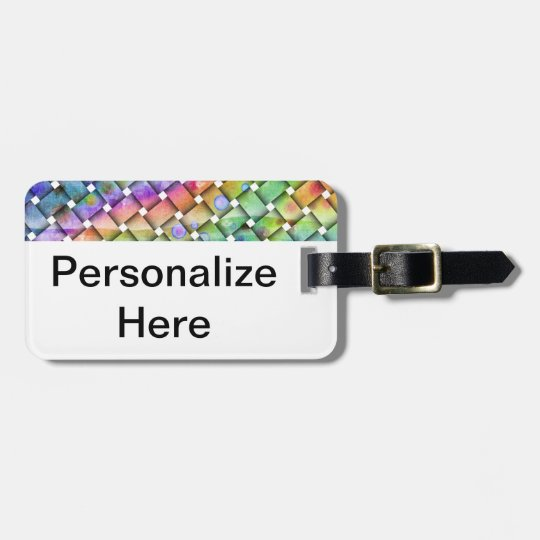 BRIGHT WEAVE Personalizable LUGGAGE TAG