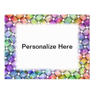 BRIGHT WEAVE Personalizable POSTCARDS