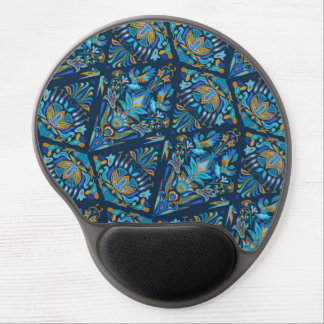 Bright wedding geometric floral tradition pattern gel mouse pad