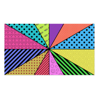 Bright Wedges of Pattern Business Card