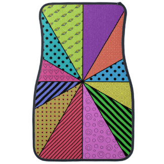 Bright Wedges of Pattern Car Mat