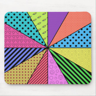 Bright Wedges of Pattern Mouse Pad
