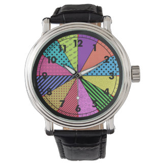 Bright Wedges of Pattern Wrist Watch