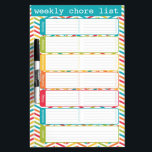 "Bright Weekly Chore List Dry Erase Board<br><div class=""desc"">Bright and colorful weekly chore list dry erase board by WRKDesigns.</div>"