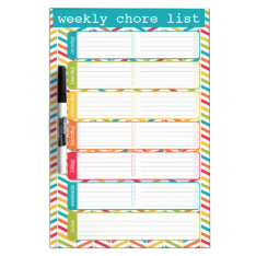 Bright Weekly Chore List Dry Erase Board at Zazzle