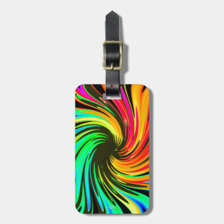 Bright Whirling Neon Lights Whirlpool Galaxy Bag Tag