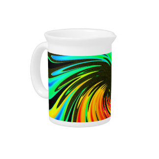 Bright Whirling Neon Lights Whirlpool Galaxy Beverage Pitcher
