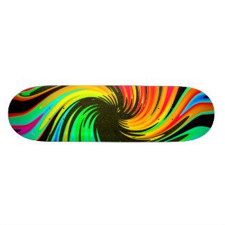 Bright Whirling Neon Lights Whirlpool Galaxy Skateboard