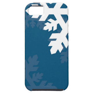 Bright, White Snowflakes against Bright Blue iPhone SE/5/5s Case