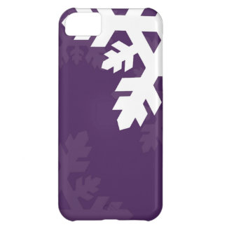 Bright, White Snowflakes against Purple iPhone 5C Cover